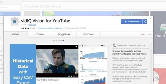 vidIQ Vision for YouTube скачать – обзор программы